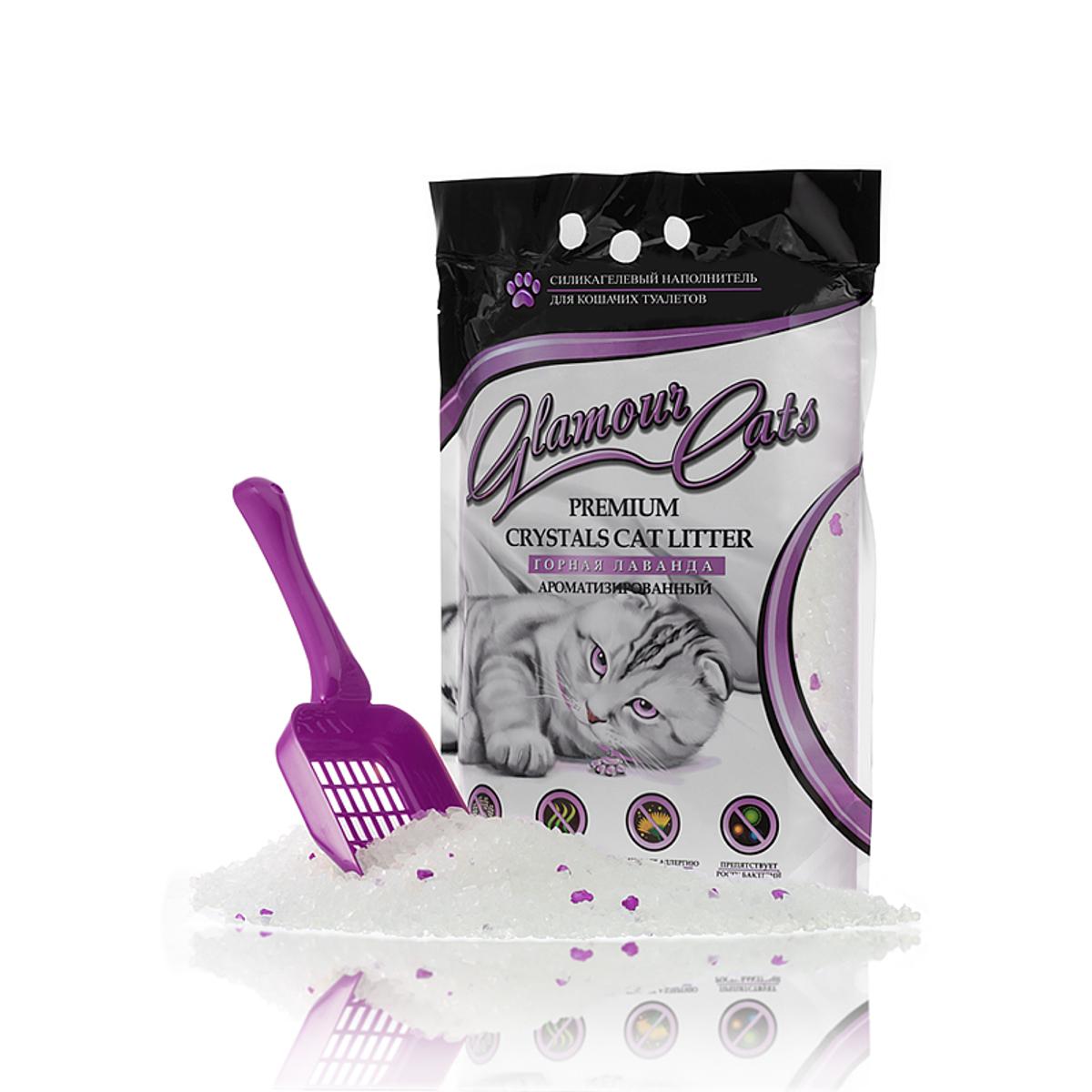 Наполнитель силикагелевый Glamour Cats лаванда, 3,8 л (1,7 кг)HS. 120002Силикагель с добавкой ароматизаторов (лаванда) Ароматизированный силикагелевый наполнитель изготавливается из 100%натурального биологического вещества с добавлением природных ароматических кристаллов (лаванда). Микроструктура ароматизированного наполнителя поглощает до 100 % всего объема запаха, быстро впитывает жидкость, препятствует распространению БАКТЕРИЙ в лотке. Ароматизированные кристаллы сохраняют свежий аромат лаванды в течение всего время использования в лотке, что позволяет сохранить воздух в вашем доме чистым и свежим. Наполнитель безопасен для окружающей среды и не вызывает аллергии у людей и животных. Природный экстракт лаванды весьма любим подавляющим числом кошек. Особенности: 1. Это революционный прорыв среди наполнителей, в нейтрализации и в контроле над запахом. Обладает способностью замыкать неприятные запахи внутри кристаллов. Выделение запахов из использованного наполнителя в 5 раз меньше по сравнению с лучшими наполнителями, что доказано...