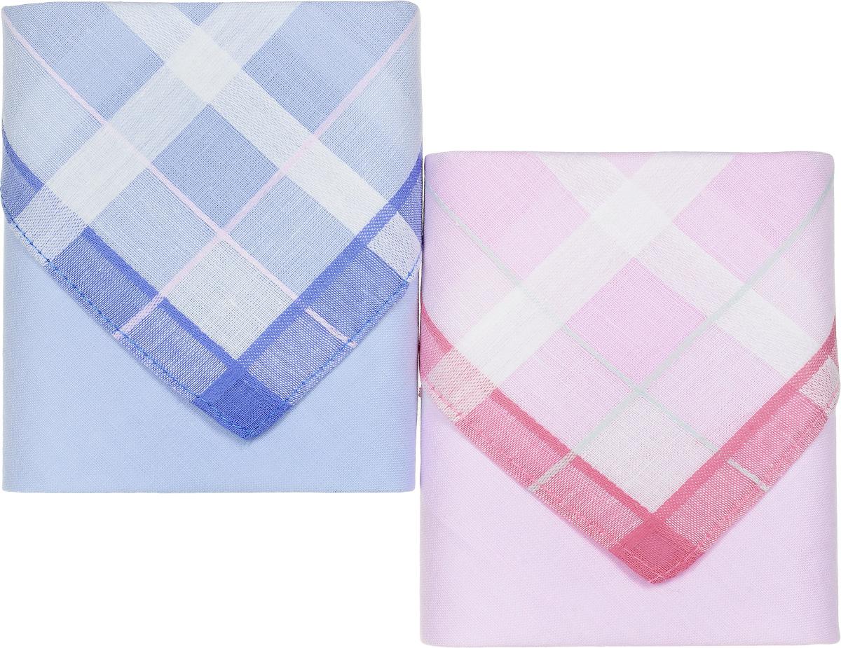 Платок носовой женский Zlata Korunka, цвет: розовый, голубой, 2 шт. 90220-1. Размер 28 см х 28 см90220-1Небольшой женский носовой платок Zlata Korunka изготовлен из высококачественного натурального хлопка, благодаря чему приятен в использовании, хорошо стирается, не садится и отлично впитывает влагу. Практичный и изящный носовой платок будет незаменим в повседневной жизни любого современного человека. Такой платок послужит стильным аксессуаром и подчеркнет ваше превосходное чувство вкуса. В комплекте 2 платка.