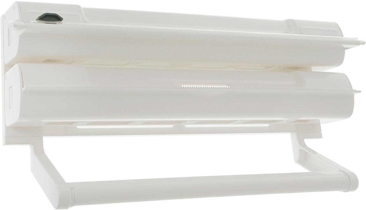 Органайзер кухонный Tescoma On Wall. 3 в 1, 38 х 8 х 19 см899720Органайзер кухонный Tescoma On Wall. 3 в 1 выполнен из высококачественного пластика. Изделие применяется для хранения и использования пищевой пленки, алюминиевой фольги и бумажных полотенец. Размещается на стене. Диспенсеры для пищевой пленки и алюминиевой фольги можно извлечь из органайзера и использовать отдельно. Конец пленки не прилипает к диспенсеру. В комплекте прилагаются инструкция по установке и крепежи. Общий размер органайзера: 38 х 8 х 19 см