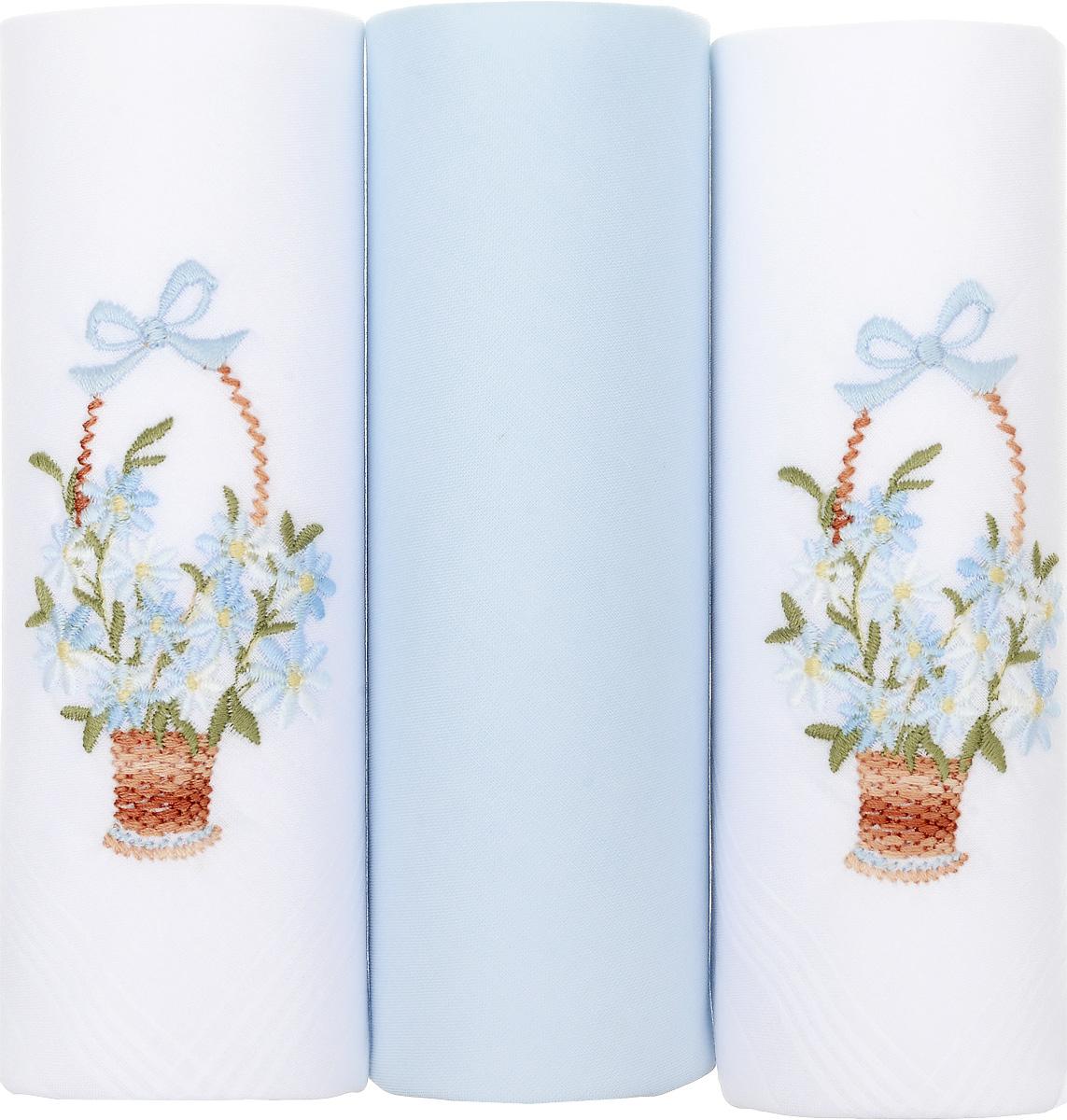 Платок носовой женский Zlata Korunka, цвет: белый, голубой, 3 шт. 25605-17. Размер 29 см х 29 см25605-17Небольшой женский носовой платок Zlata Korunka изготовлен из высококачественного натурального хлопка, благодаря чему приятен в использовании, хорошо стирается, не садится и отлично впитывает влагу. Практичный и изящный носовой платок будет незаменим в повседневной жизни любого современного человека. Такой платок послужит стильным аксессуаром и подчеркнет ваше превосходное чувство вкуса. В комплекте 3 платка.