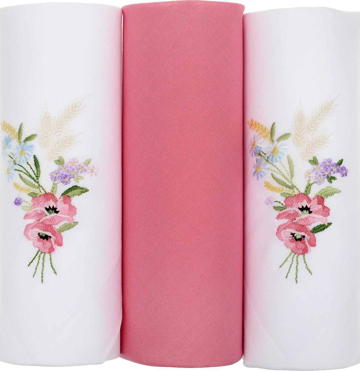 Платок носовой женский Zlata Korunka, цвет: белый, коралловый, 3 шт. 25605-3. Размер 29 см х 29 см25605-3Небольшой женский носовой платок Zlata Korunka изготовлен из высококачественного натурального хлопка, благодаря чему приятен в использовании, хорошо стирается, не садится и отлично впитывает влагу. Практичный и изящный носовой платок будет незаменим в повседневной жизни любого современного человека. Такой платок послужит стильным аксессуаром и подчеркнет ваше превосходное чувство вкуса. В комплекте 3 платка.