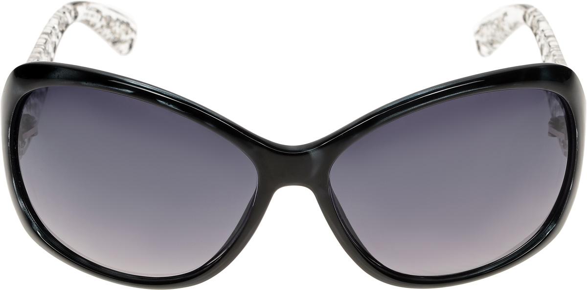 Очки солнцезащитные женские Vittorio Richi, цвет: черный. ОС4059c107-637-5/17fОС4059c107-637-5/17fОчки солнцезащитные Vittorio Richi это знаменитое итальянское качество и традиционно изысканный дизайн.
