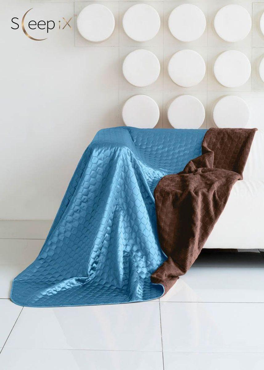 Покрывало Sleep iX Shinen Soft, цвет: коричневый, темно-голубой, 180х220 см. maa214806maa214806Общий размер: двуспальный Размер покрывала: 180х220 см Размер наволочек: Без наволочек Материал: Искусственный мех,Атласный шелк Длина ворса: Короткий Наполнитель: Синтепон Состав: 100% полиэстер Отделка: Кант,Стежка Особенность: Двухсторонний Производитель: Sleep iX Cтрана производства: Китай Упаковка: Чемодан ПВХ