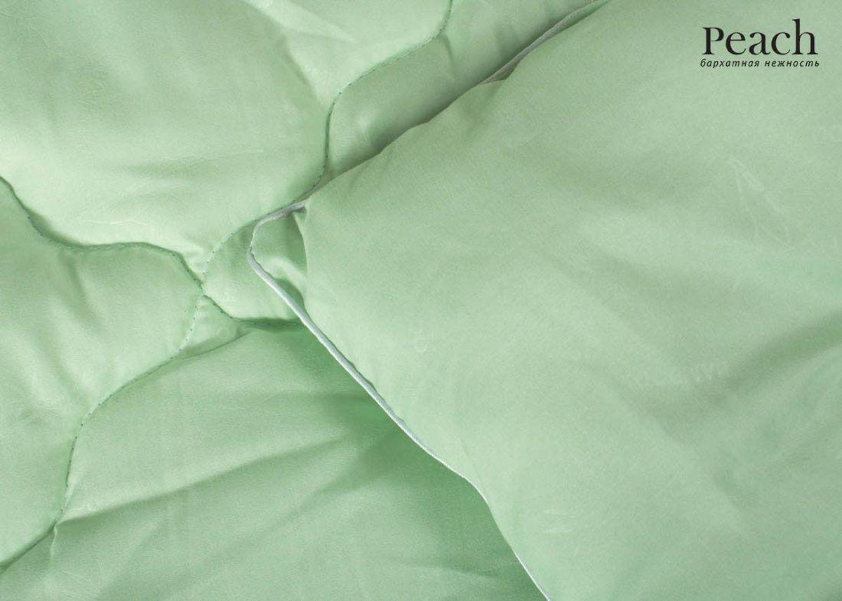 Одеяло Peach, из бамбукового волокна, теплое, 172х205 смpch222639Одеяло стеганое теплое двуспальное (мал) Размер: 172х205 см Наполнитель: Бамбуковое волокно Плотность наполнителя: 300 гр/м2 Состав: Бамбуковое волокно, Лебяжий пух Материал чехла: Микрофибра (PeachSOFT) Состав: 100% Полиэстер Отделка: Кант Производитель: Peach Страна производства: Россия Тип Упаковки: Чемодан ПВХ