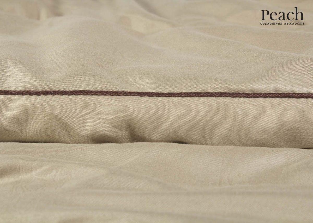 Одеяло Peach, из верблюжьей шерсти, теплое, 200х220 смpch222646Одеяло стеганое теплое двуспальное (евро) Размер: 200х220 см Наполнитель: Верблюжья шерсть Плотность наполнителя: 300 гр/м2 Состав: Верблюжья шерсть, Лебяжий пух Материал чехла: Микрофибра (PeachSOFT) Состав: 100% Полиэстер Отделка: Кант Производитель: Peach Страна производства: Россия Тип Упаковки: Чемодан ПВХ