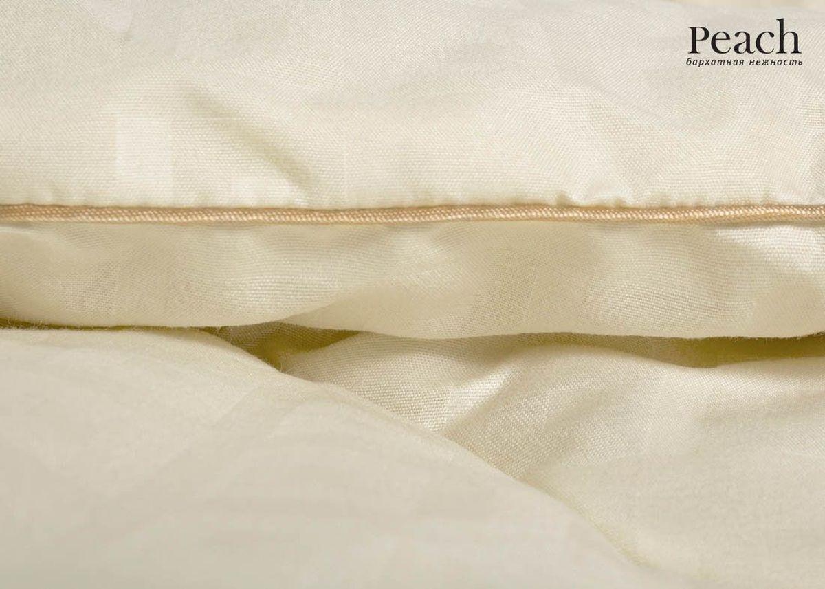 Одеяло Peach, из овечьей шерсти теплое, 140х205 смpch222650Одеяло стеганое теплое полутороспальное Размер: 140х205 см Наполнитель: Шерсть овечья Плотность наполнителя: 300 гр/м2 Состав: Шерсть овечья, Лебяжий пух Материал чехла: Микрофибра (PeachSOFT) Состав: 100% Полиэстер Отделка: Кант Производитель: Peach Страна производства: Россия Тип Упаковки: Чемодан ПВХ Цвет чехла может отличаться от представленного на фотографии.