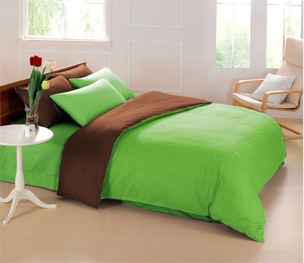 Постельное белье Sleep iX Perfection, семейный, цвет: зеленый, темно-коричневыйpva215411Известно, что цвет напрямую воздействует на психологическое и физическое состояние человека. Специально для наших покупателей мы внесли описание воздействия каждого цвета в комплекты постельного белья Perfection. Зеленый - успокаивающий, нейтральный, мягкий цвет. Нормализует деятельность сердечно-сосудистой системы, успокаивает сильное сердцебиение, стабилизирует артериальное давление и функции нервной системы. Коричневый - спокойный и сдержанный цвет. Вызывает ощущение тепла, способствует созданию спокойного мягкого настроения. Это цвет надежности, прочности, здравого смысла. Производитель: Sleep iX Материал: Микрофреш (100 г/м2) Состав материала: 100% микрофибра Размер: Семейное (2 пододеял.) Размер пододеяльника: 150х220 см Тип застежки на пододеяльнике: Молния (100 см) Размер простыни: 220х240 (обычная) Размер наволочек: 50х70 и 70х70 (по 2 шт) Тип застежки на наволочках: Клапан (20 см) Упаковка комплекта: Подарочная Коробка Cтрана...