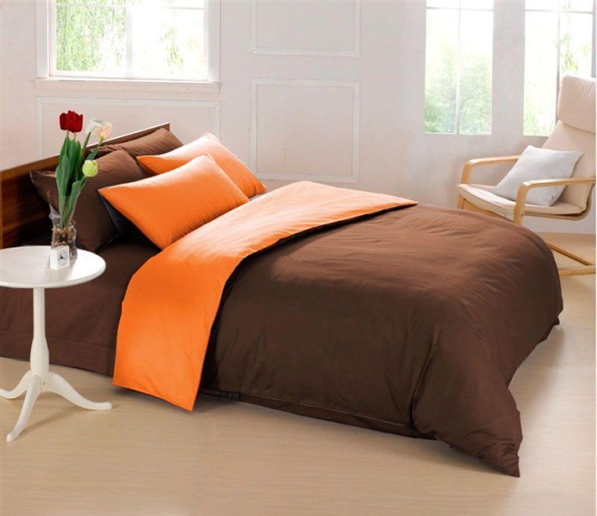 Постельное белье Sleep iX Perfection, семейный, цвет: оранжевый, темно-коричневыйpva215413Известно, что цвет напрямую воздействует на психологическое и физическое состояние человека. Специально для наших покупателей мы внесли описание воздействия каждого цвета в комплекты постельного белья Perfection. Оранжевый – вызывает ощущение теплоты, бодрости, веселья, создает хорошее настроение. Оранжевый омолаживает, возбуждает аппетит, способствует оптимистическому настрою и гармонии с окружающей средой. Коричневый - спокойный и сдержанный цвет. Вызывает ощущение тепла, способствует созданию спокойного мягкого настроения. Это цвет надежности, прочности, здравого смысла. Производитель: Sleep iX Материал: Микрофреш (100 г/м2) Состав материала: 100% микрофибра Размер: Семейное (2 пододеял.) Размер пододеяльника: 150х220 см Тип застежки на пододеяльнике: Молния (100 см) Размер простыни: 220х240 (обычная) Размер наволочек: 50х70 и 70х70 (по 2 шт) Тип застежки на наволочках: Клапан (20 см) Упаковка комплекта: Подарочная Коробка Cтрана...