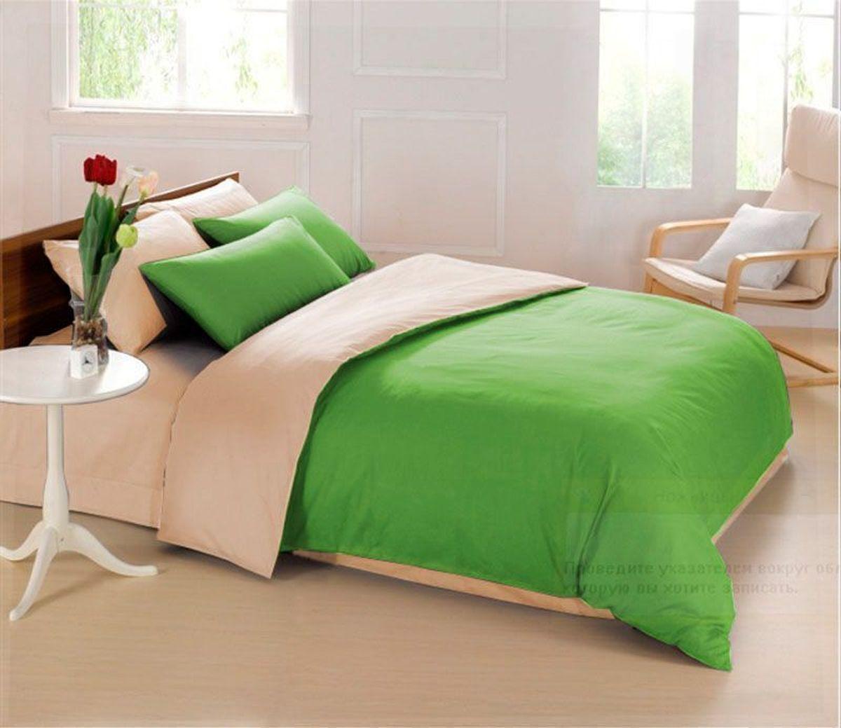 Постельное белье Sleep iX Perfection, семейный, цвет: зеленый, бежевыйpva215428Известно, что цвет напрямую воздействует на психологическое и физическое состояние человека. Специально для наших покупателей мы внесли описание воздействия каждого цвета в комплекты постельного белья Perfection. Зеленый - успокаивающий, нейтральный, мягкий цвет. Нормализует деятельность сердечно-сосудистой системы, успокаивает сильное сердцебиение, стабилизирует артериальное давление и функции нервной системы. Бежевый – обладает внутренней теплотой, заряжает положительной энергетикой и способствует формированию душевной гармонии. Человек ощущает себя в окружении бежевого цвета очень спокойно. Производитель: Sleep iX Материал: Микрофреш (100 г/м2) Состав материала: 100% микрофибра Размер: Семейное (2 пододеял.) Размер пододеяльника: 150х220 см Тип застежки на пододеяльнике: Молния (100 см) Размер простыни: 220х240 (обычная) Размер наволочек: 50х70 и 70х70 (по 2 шт) Тип застежки на наволочках: Клапан (20 см) Упаковка комплекта: Подарочная...