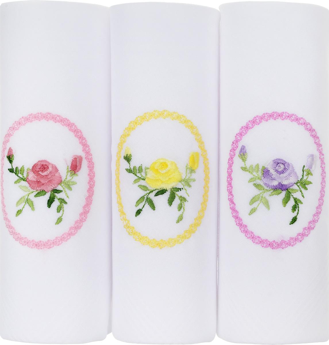 Платок носовой женский Zlata Korunka, цвет: белый, 3 шт. 06601-8. Размер 30 см х 30 см06601-8Небольшой женский носовой платок Zlata Korunka изготовлен из высококачественного натурального хлопка, благодаря чему приятен в использовании, хорошо стирается, не садится и отлично впитывает влагу. Практичный и изящный носовой платок будет незаменим в повседневной жизни любого современного человека. Такой платок послужит стильным аксессуаром и подчеркнет ваше превосходное чувство вкуса. В комплекте 3 платка.