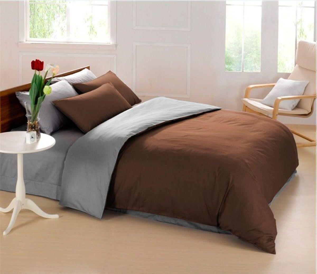 Постельное белье Sleep iX Perfection, семейный, цвет: темно-коричневый, серыйpva215438Известно, что цвет напрямую воздействует на психологическое и физическое состояние человека. Специально для наших покупателей мы внесли описание воздействия каждого цвета в комплекты постельного белья Perfection. Коричневый - спокойный и сдержанный цвет. Вызывает ощущение тепла, способствует созданию спокойного мягкого настроения. Это цвет надежности, прочности, здравого смысла. Серый – нейтральный цвет. Расслабляет, помогает успокоиться и способствует здоровому сну. Усиливает воздействие соседствующих цветов. Производитель: Sleep iX Материал: Микрофреш (100 г/м2) Состав материала: 100% микрофибра Размер: Семейное (2 пододеял.) Размер пододеяльника: 150х220 см Тип застежки на пододеяльнике: Молния (100 см) Размер простыни: 220х240 (обычная) Размер наволочек: 50х70 и 70х70 (по 2 шт) Тип застежки на наволочках: Клапан (20 см) Упаковка комплекта: Подарочная Коробка Cтрана производства: Китай Расположение цветов на комплекте постельного...