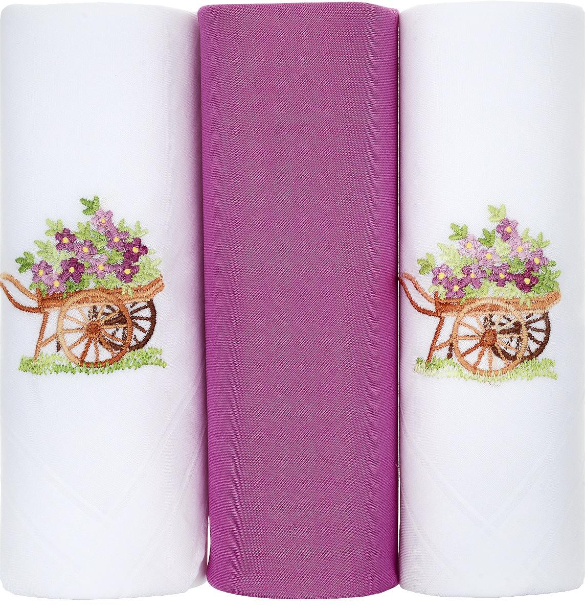 Платок носовой женский Zlata Korunka, цвет: белый, фуксия, 3 шт. 25605-11. Размер 30 см х 30 см25605-11Небольшой женский носовой платок Zlata Korunka изготовлен из высококачественного натурального хлопка, благодаря чему приятен в использовании, хорошо стирается, не садится и отлично впитывает влагу. Практичный и изящный носовой платок будет незаменим в повседневной жизни любого современного человека. Такой платок послужит стильным аксессуаром и подчеркнет ваше превосходное чувство вкуса. В комплекте 3 платка.