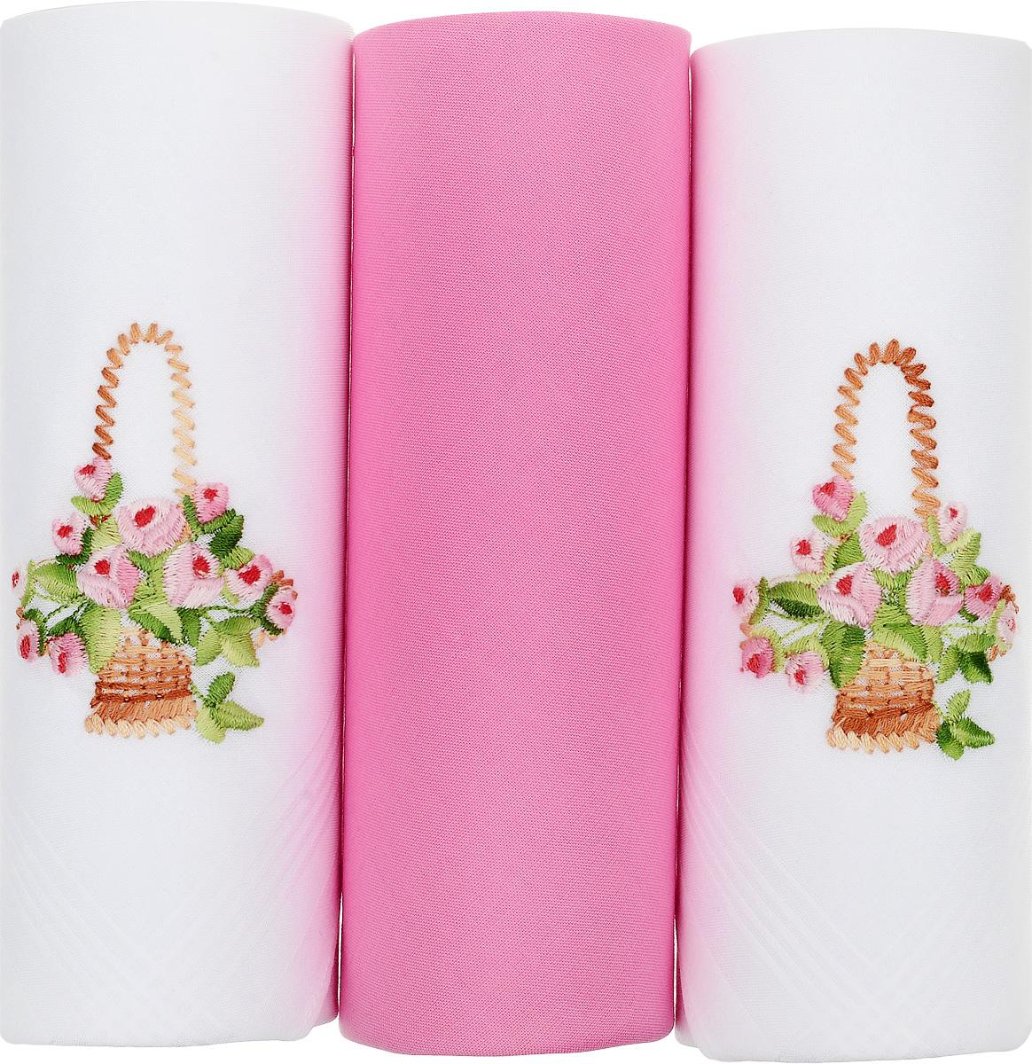 Платок носовой женский Zlata Korunka, цвет: белый, розовый, 3 шт. 25605-9. Размер 30 см х 30 см25605-9Небольшой женский носовой платок Zlata Korunka изготовлен из высококачественного натурального хлопка, благодаря чему приятен в использовании, хорошо стирается, не садится и отлично впитывает влагу. Практичный и изящный носовой платок будет незаменим в повседневной жизни любого современного человека. Такой платок послужит стильным аксессуаром и подчеркнет ваше превосходное чувство вкуса. В комплекте 3 платка.