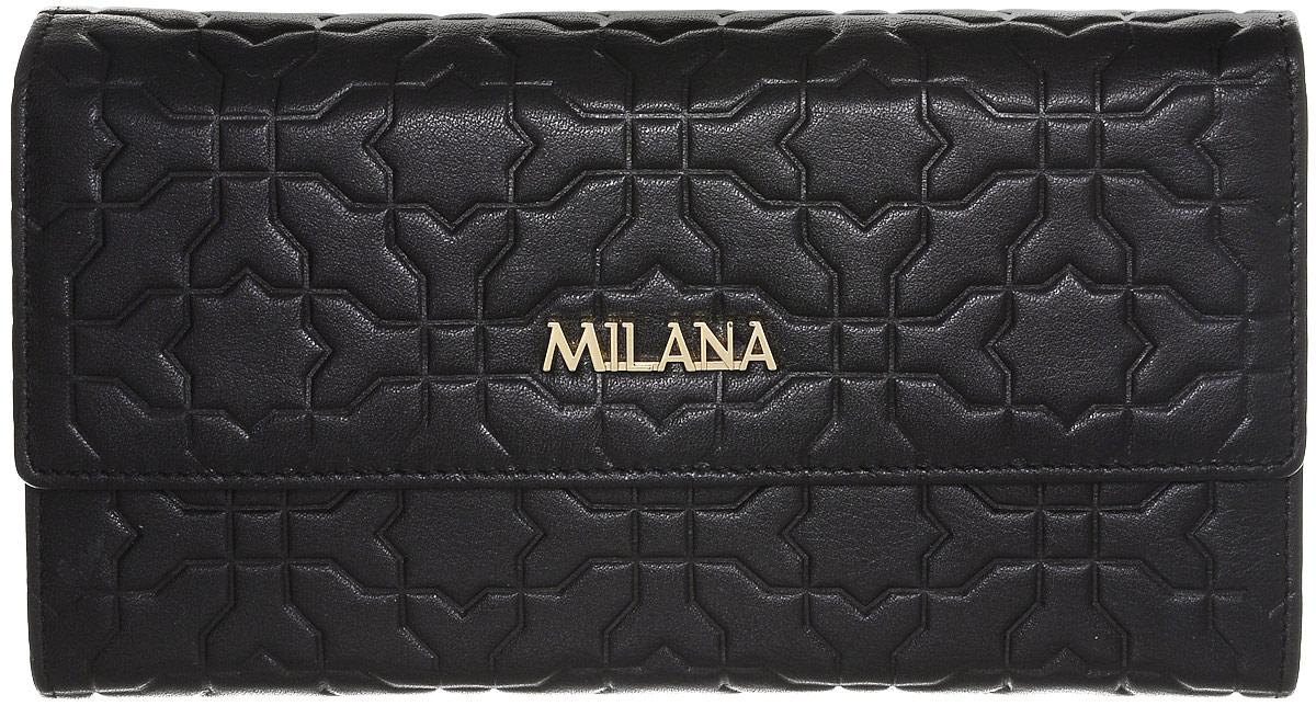 Портмоне женское Milana, цвет: черный. 141902-1-110