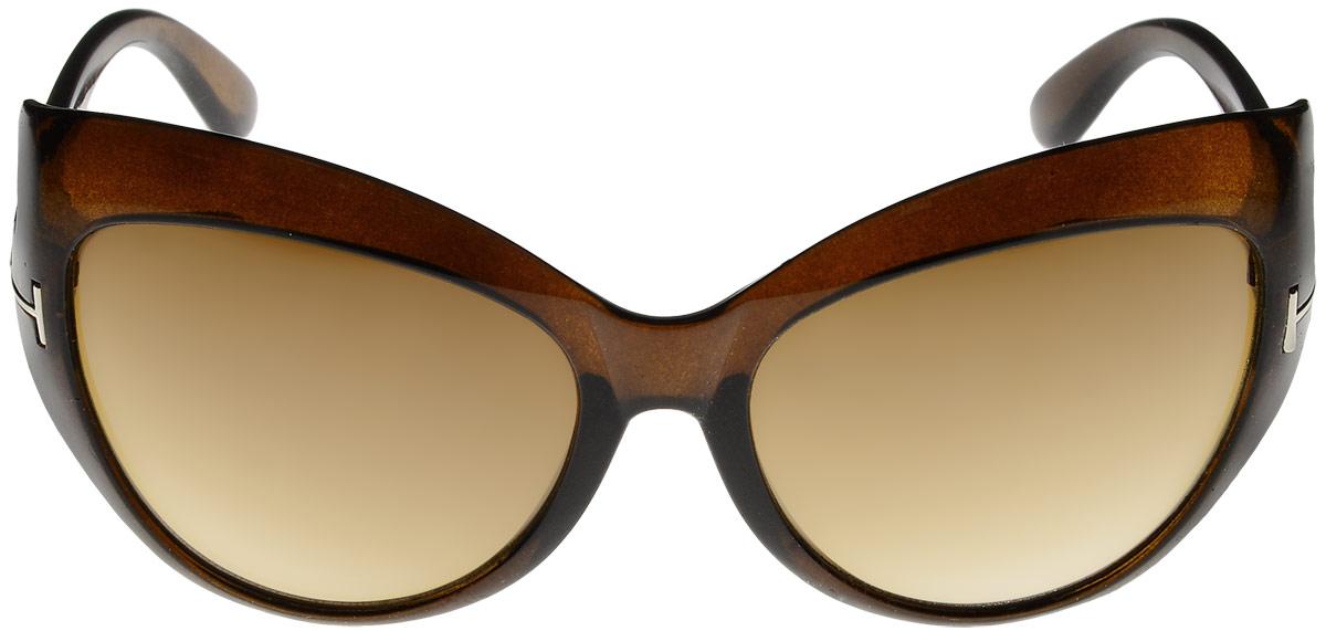 Очки солнцезащитные женские Vittorio Richi, цвет: коричневый. ОС1243/17fОС1243/17fОчки солнцезащитные Vittorio Richi это знаменитое итальянское качество и традиционно изысканный дизайн.