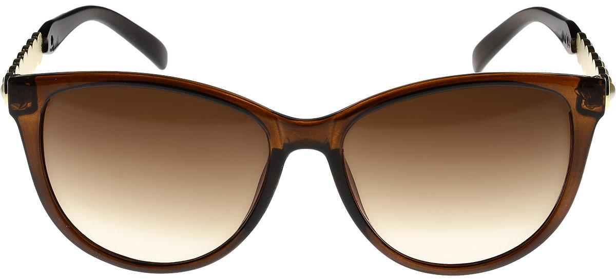 Очки солнцезащитные женские Vittorio Richi, цвет: коричневый. ОС1857с2/17fОС1857с2/17fОчки солнцезащитные Vittorio Richi это знаменитое итальянское качество и традиционно изысканный дизайн.
