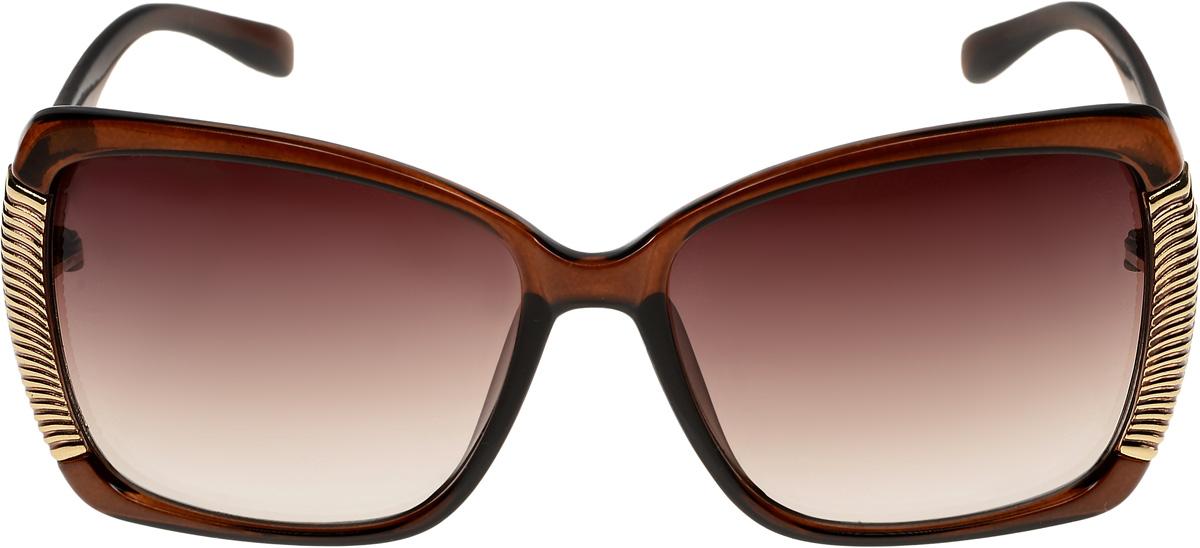 Очки солнцезащитные женские Vittorio Richi, цвет: коричневый. ОС51178320-477-12/17fОС51178320-477-12/17fОчки солнцезащитные Vittorio Richi это знаменитое итальянское качество и традиционно изысканный дизайн.