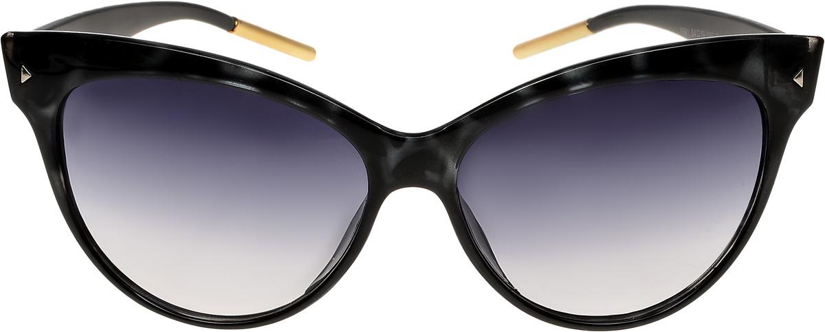 Очки солнцезащитные женские Vittorio Richi, цвет: черный. ОС1991c4/17fОС1991c4/17fОчки солнцезащитные Vittorio Richi это знаменитое итальянское качество и традиционно изысканный дизайн.