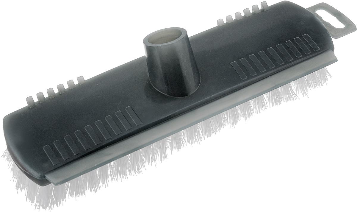 Щетка для пола Svip Бриз, без ручки, цвет: серый, 24 х 6,5 х 5,5 смSV3124СБЩетка для пола Svip Бриз изготовлена из пластика. Жесткая щетина из полипропилена идеально подходит для уборки пола. Может использоваться как в домашних, так и промышленных целях. Щетка долговечна и устойчива к погодному воздействию. На колодке щетки расположен удобный скребок для снятия особо стойкого загрязнения. Универсальная резьба подходит ко всем видам ручек. Щетка станет незаменимым помощником по хозяйству. Размер щетки: 24 х 6,5 см. Длина ворса: 2 см. Диаметр резьбы: 2 см.