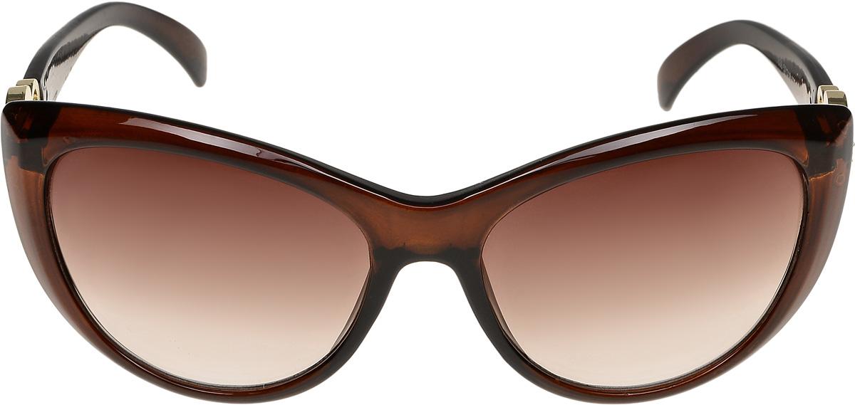 Очки солнцезащитные женские Vittorio Richi, цвет: коричневый. ОС1838с2/17fОС1838с2/17fОчки солнцезащитные Vittorio Richi это знаменитое итальянское качество и традиционно изысканный дизайн.