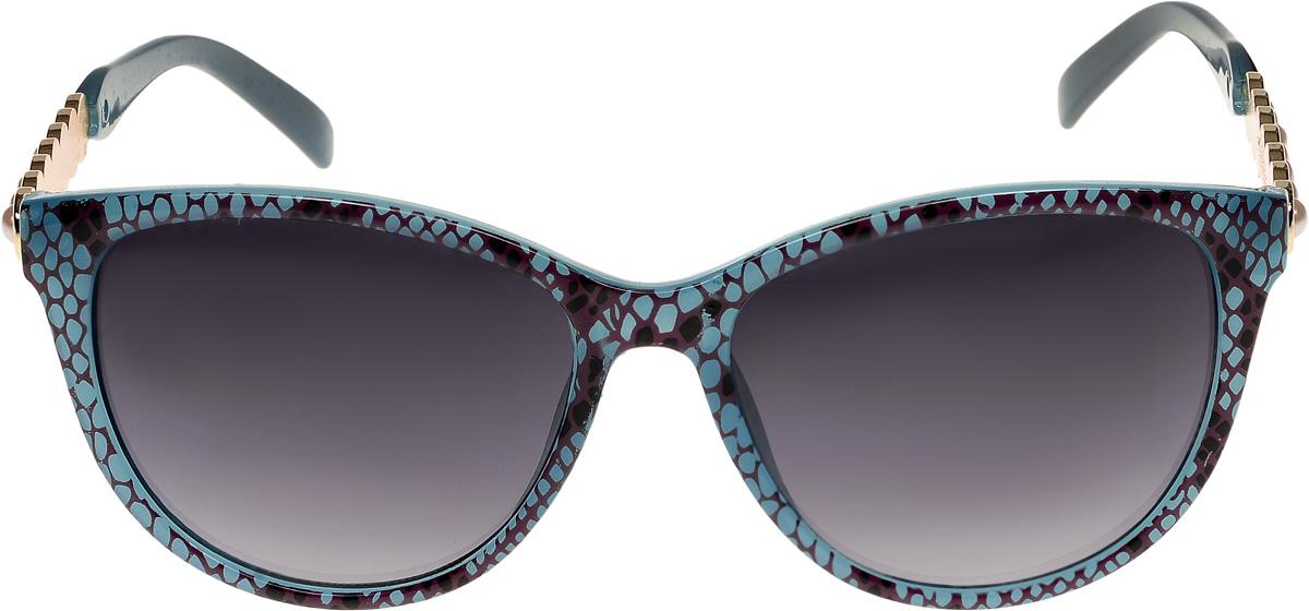 Очки солнцезащитные женские Vittorio Richi, цвет: голубой, вишнёвый. ОС1857с6/17fОС1857с6/17fОчки солнцезащитные Vittorio Richi это знаменитое итальянское качество и традиционно изысканный дизайн.