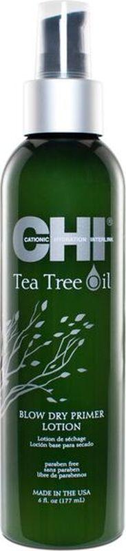 CHI Лосьон-праймер с маслом чайного дерева для кожи головы, 177млCHITTDP6Подготавливает волосы и кожу головы для термической укладки с легким увлажняющим эффектом, который защищает от теплового повреждения и негативного воздействия окружающей среды.