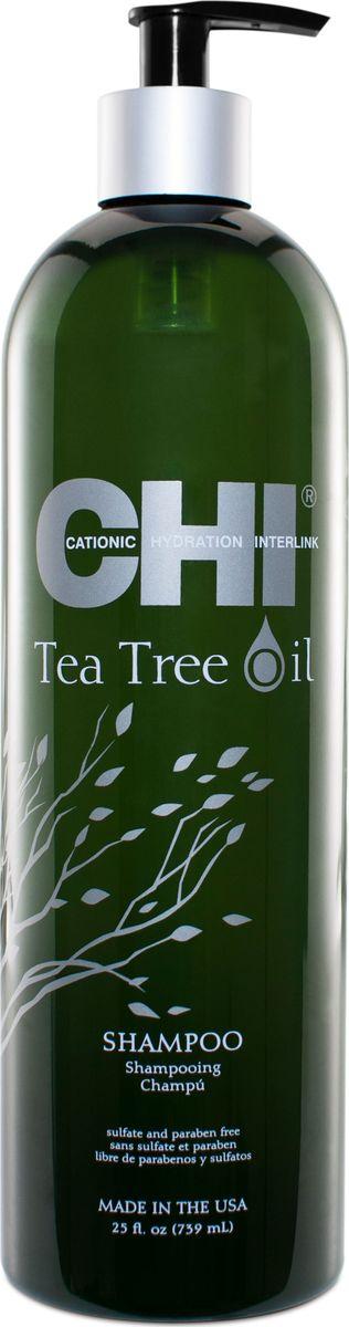 CHI Шампунь с маслом чайного дерева,355 млCHITTS12Мягко очищает, избавляя волосы и кожу головы от загрязнений, контролируя выработку кожного сала, выравнивает кутикульный слой волос.