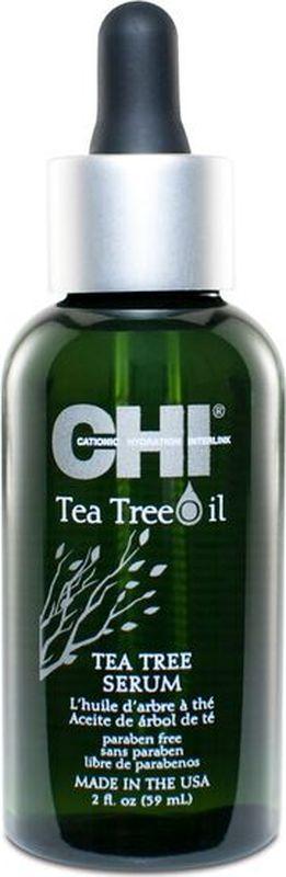 CHI Сыворотка для волос с маслом чайного дерева, 59 млCHITTSЕ2Сыворотка для волос с маслом чайного дерева. Быстро впитывающаяся смесь чайного дерева и масло перечной мяты увлажняет, питает волосы и кожу головы, обеспечивает необходимыми питательными веществами, придавая волосам шелковистость и здоровый вид, а также обеспечивает природным УФ фильтром и термозащитой.