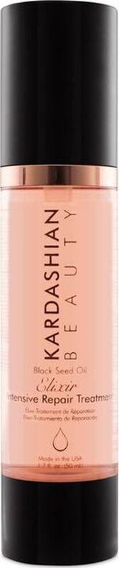 Kardashian Beauty Масло-эликсир для волос с экстрактом семян черного тмина/KB- Black Seed Oil Elixir- Intensive Repair Treatment, 1,7oz/50мл фл.KBDEE1Масло черного тмина питает и насыщает волосы витаминами. Облегчает расчесывание и дарит блеск волосам.