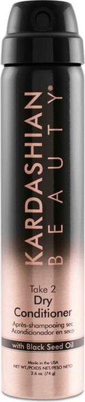 Kardashian Beauty Сухой кондиционер Take 2 150грKDC5Легкий спрей, оживляет тусклые и сухие волосы, придает им блеск. Содержит масло черного тмина, которое увлажняет волосы, делая их невероятно мягкими, гладкими и блестящими.