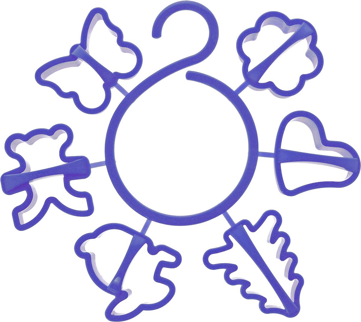 Набор форм для печенья Idea, цвет: синий, 6 штМ 1202_синийНабор Idea состоит из 6 форм, выполненных из полипропилена. Формы предназначены для приготовления печенья оригинальных форм. Набор позволит приготовить выпечку по вашему любимому рецепту, но в оригинальном праздничном оформлении, которое придется по душе всей семье. Формочки прикреплены к пластиковому крючку, благодаря чему их можно повесить в любом удобном для вас месте. Средний размер форм: 6,5 х 6 х 1,5 см.