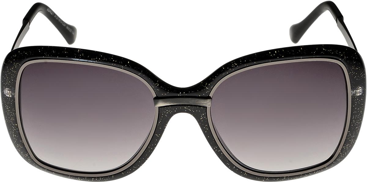 Очки солнцезащитные женские Vittorio Richi, цвет: черный. ОС4021c137-670-24/17fОС4021c137-670-24/17fОчки солнцезащитные Vittorio Richi это знаменитое итальянское качество и традиционно изысканный дизайн.