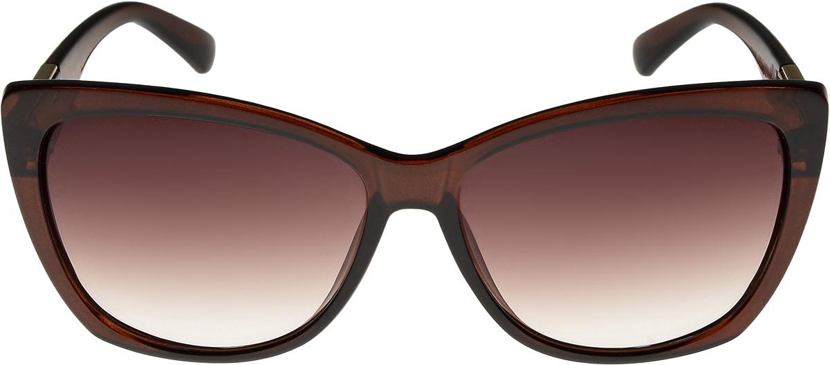 Очки солнцезащитные женские Vittorio Richi, цвет: коричневый. ОС4137c320-477-1/17fОС4137c320-477-1/17fОчки солнцезащитные Vittorio Richi это знаменитое итальянское качество и традиционно изысканный дизайн.