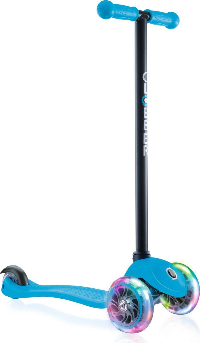 Самокат Globber My Free Fixed, цвет: черный, синий. 412-101412-101Самокат Globber My Free FIXED с блокировкой передних колес. Самоката безопасен для обучения: три колеса, очень прочная дека и низкая подножка гарантируют стабильность и комфорт ребенка с 2 лет. Благодаря функции блокировки колес, исключается возможность наклона руля и поворотов, что предотвращает падения и придает самокату устойчивость.