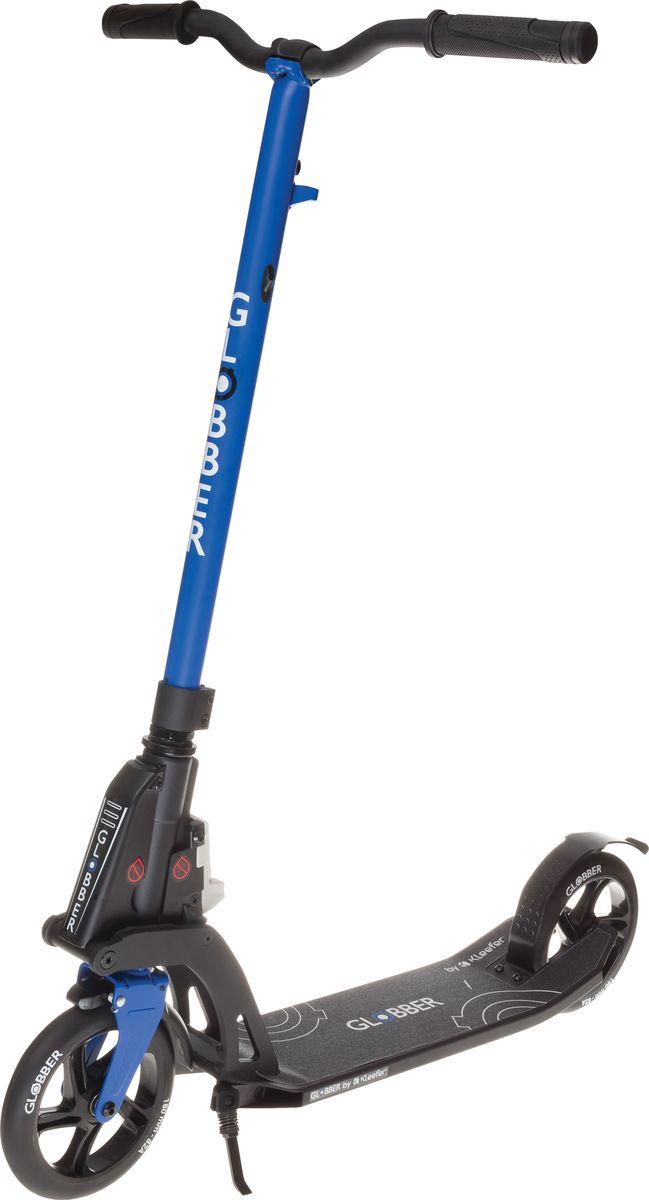 Самокат Globber My Too One K180, цвет: синий. 499-182499-182Самокат ONE K 180 оборудован фиксированным рулем и длинными ручками. Данная модель максимально комфортна для ежедневного использования. Доступны модификации самоката оборудованный ручным тормозом, а так же без него. Данная модель оснащена быстрой и простой в использовании системой складывания Kleefer, самокат можно собрать за одну секунду простым ударом по педали для того, чтобы беспрепятственно воспользоваться общественным транспортом.