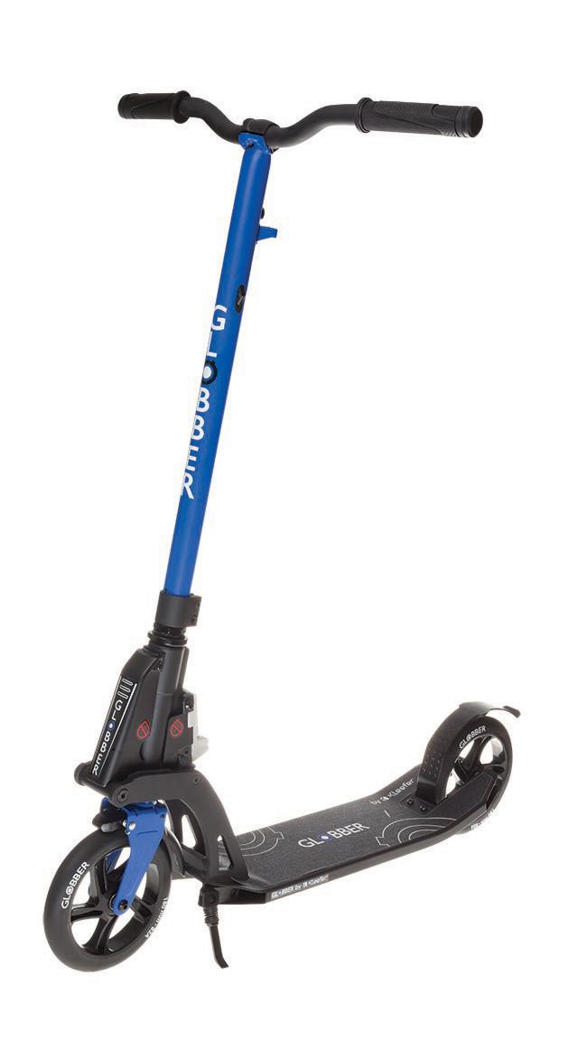 Самокат Globber My Too One K180, с тормозом , цвет: синий. 499-192499-192Самокат ONE K 180 оборудован фиксированным рулем и длинными ручками. Данная модель максимально комфортна для ежедневного использования. Доступны модификации самоката оборудованный ручным тормозом, а так же без него. Данная модель оснащена быстрой и простой в использовании системой складывания Kleefer, самокат можно собрать за одну секунду простым ударом по педали для того, чтобы беспрепятственно воспользоваться общественным транспортом.
