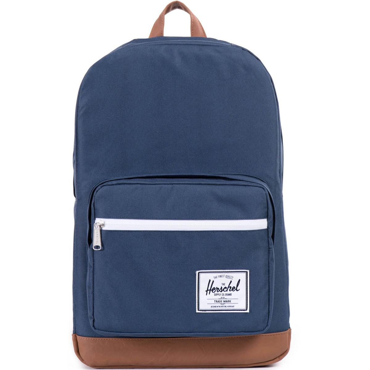 Рюкзак городской Herschel Pop Quiz (A/S), цвет: синий, светло-коричневый. 828432005666828432005666Рюкзак Herschel Pop Quiz ™ универсальный рюкзак для школы и работы с широким спектром карманов и органайзера.