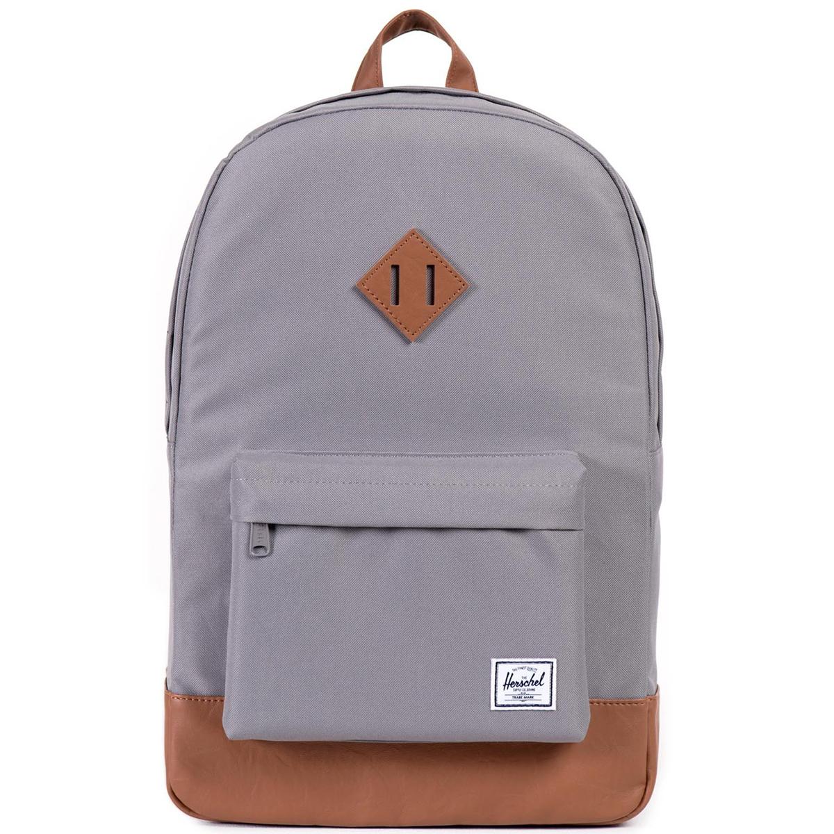 Рюкзак городской Herschel Heritage (A/S), цвет: серый, светло-коричневый. 828432010356828432010356Рюкзак Herschel Heritage ™ это функциональный классический дизайн с особым внимание к деталям.