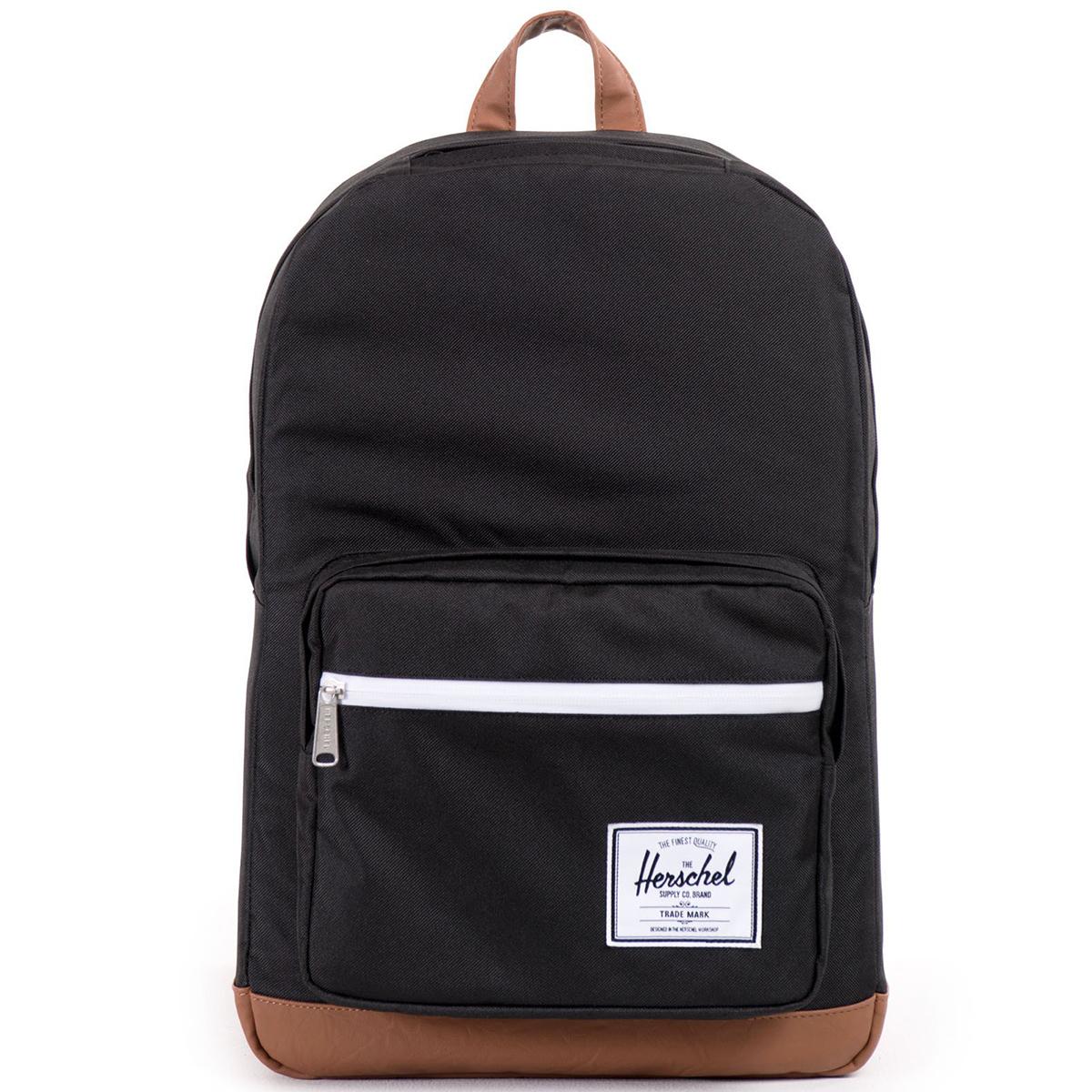 Рюкзак городской Herschel Pop Quiz (A/S), цвет: черный, светло-коричневый. 828432010387828432010387Рюкзак Herschel Pop Quiz ™ универсальный рюкзак для школы и работы с широким спектром карманов и органайзера.