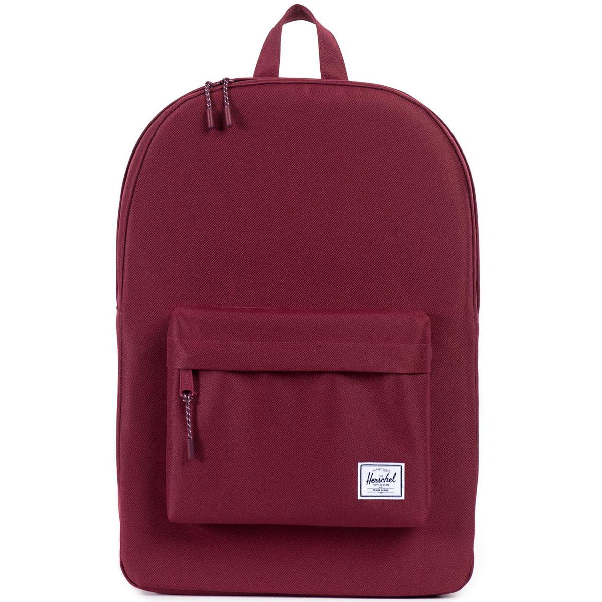 Рюкзак городской Herschel Classic (A/S), цвет: бордовый. 828432064618828432064618Рюкзак Herschel Classic целиком и полностью оправдывает свое название, выражая совершенство в лаконичных и идеальных линиях. Этот рюкзак создан для любых целей и поездок и отлично впишется в абсолютно любой стиль.