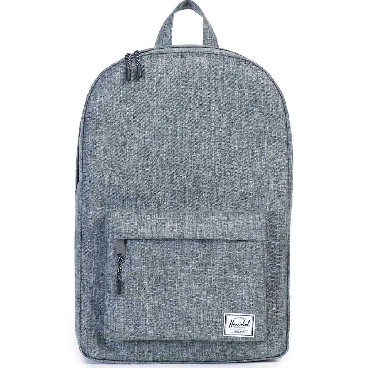 Рюкзак городской Herschel Classic (A/S), цвет: серый. 828432100385828432100385Рюкзак Herschel Classic целиком и полностью оправдывает свое название, выражая совершенство в лаконичных и идеальных линиях. Этот рюкзак создан для любых целей и поездок и отлично впишется в абсолютно любой стиль.