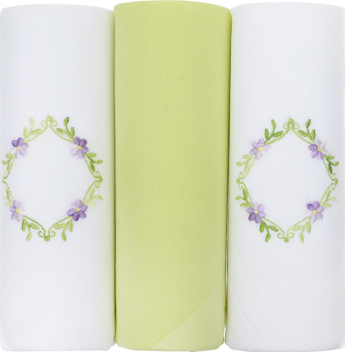 Платок носовой женский Zlata Korunka, цвет: белый, желтый, 3 шт. 25605-2. Размер 30 см х 30 см25605-2Небольшой женский носовой платок Zlata Korunka изготовлен из высококачественного натурального хлопка, благодаря чему приятен в использовании, хорошо стирается, не садится и отлично впитывает влагу. Практичный и изящный носовой платок будет незаменим в повседневной жизни любого современного человека. Такой платок послужит стильным аксессуаром и подчеркнет ваше превосходное чувство вкуса. В комплекте 3 платка.
