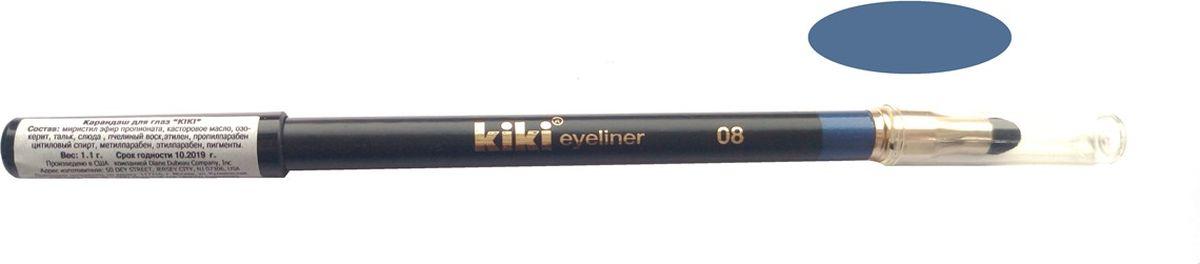 Kiki Карандаш для глаз с аппликатором 08, 1.3 гр11104008Мягкая текстура создает идеальный контур глаз. Создает на коже четкую и стойкую линию. Плотные, насыщенные оттенки. Мягкий, удобный аппликатор позволяет растушевывать и создавать полутона.