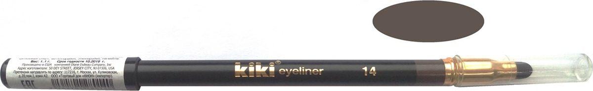 Kiki Карандаш для глаз с аппликатором 14, 1.3 гр11104014Мягкая текстура создает идеальный контур глаз. Создает на коже четкую и стойкую линию. Плотные, насыщенные оттенки. Мягкий, удобный аппликатор позволяет растушевывать и создавать полутона.