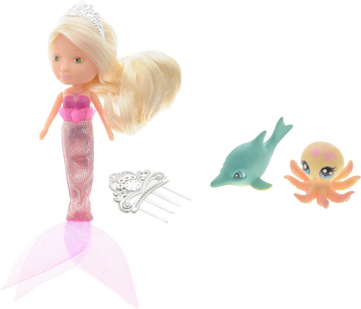 Veld-Co Игровой набор с мини-куклой Русалка и Морские обитатели