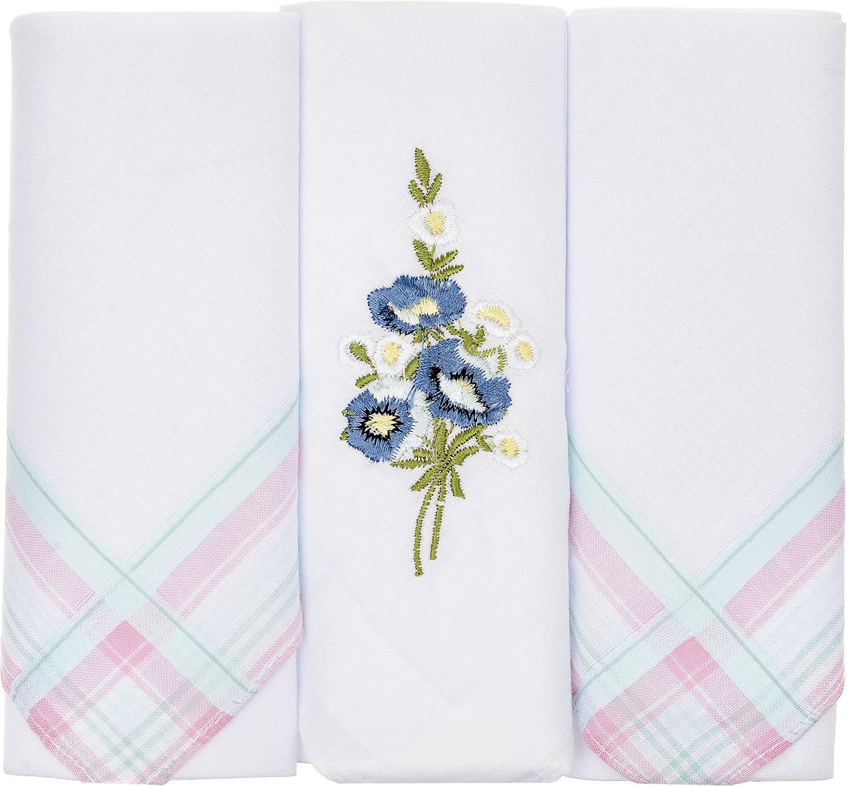 Платок носовой женский Zlata Korunka, цвет: белый, 3 шт. 90329-39. Размер 29 см х 29 см90329-39Небольшой женский носовой платок Zlata Korunka изготовлен из высококачественного натурального хлопка, благодаря чему приятен в использовании, хорошо стирается, не садится и отлично впитывает влагу. Практичный и изящный носовой платок будет незаменим в повседневной жизни любого современного человека. Такой платок послужит стильным аксессуаром и подчеркнет ваше превосходное чувство вкуса. В комплекте 3 платка.