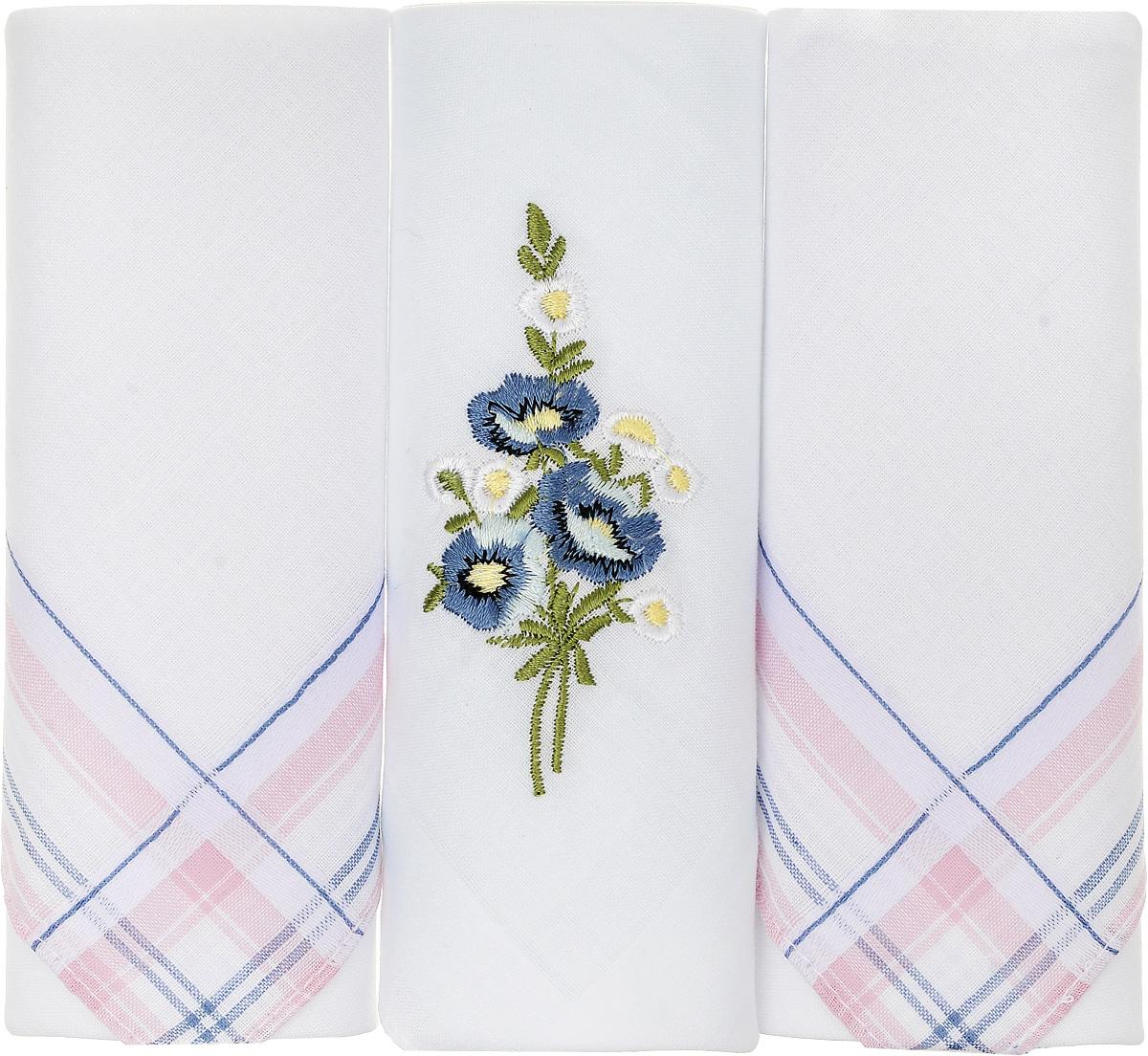 Платок носовой женский Zlata Korunka, цвет: белый, 3 шт. 90329-40. Размер 29 см х 29 см90329-40Небольшой женский носовой платок Zlata Korunka изготовлен из высококачественного натурального хлопка, благодаря чему приятен в использовании, хорошо стирается, не садится и отлично впитывает влагу. Практичный и изящный носовой платок будет незаменим в повседневной жизни любого современного человека. Такой платок послужит стильным аксессуаром и подчеркнет ваше превосходное чувство вкуса. В комплекте 3 платка.