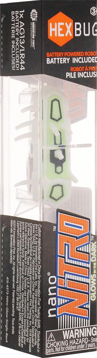 Hexbug Микро-робот Nitro Glow цвет белый зеленый