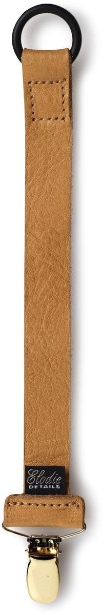 Elodie Details Клипса-держатель для соски-пустышки Leather от 0 месяцев цвет коньячный
