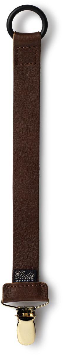 Elodie Details Клипса-держатель для соски-пустышки Leather от 0 месяцев цвет коричневый
